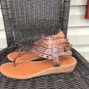 Franco Sarto women's brown leather sandals